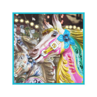 Merry-go-round painted horse 10 series canvas print