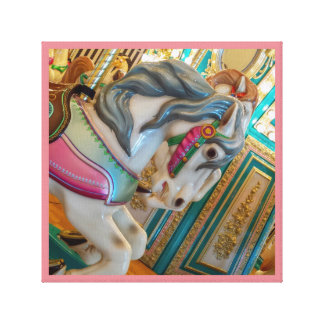 Merry-go-round painted horse carnival series 24 canvas print