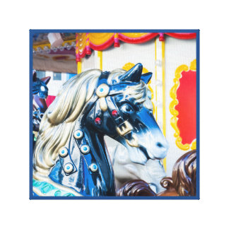 Merry-go-round painted horse carousel series 13 canvas print