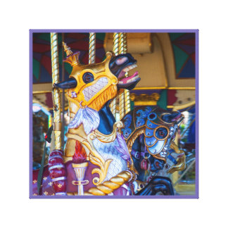 Merry-go-round painted horse carousel series 20 canvas print