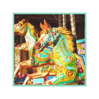 Merry-go-round painted horse carousel series 34 canvas print
