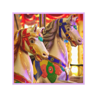 Merry-go-round painted ponies carnival series 39 canvas print