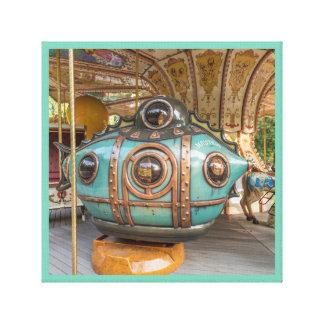 Merry-go-Round ride submarine canvas series 32
