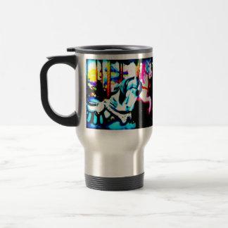 Merry-go-round stainless steel travel mug