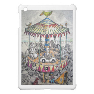 Merry-go-round with clowns case for the iPad mini