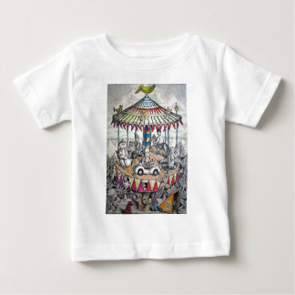 Merry-go-round with clowns tees