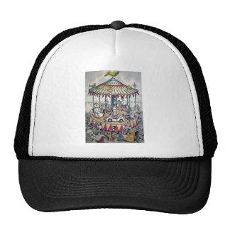 Merry-go-round with clowns trucker hat
