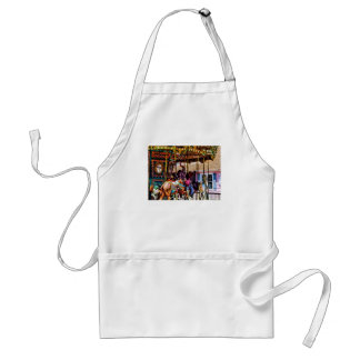 Merry Go Round With Elephants Adult Apron