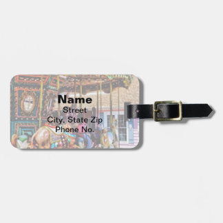 Merry Go Round With Elephants Bag Tag
