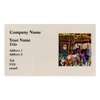 Merry Go Round With Elephants Business Card