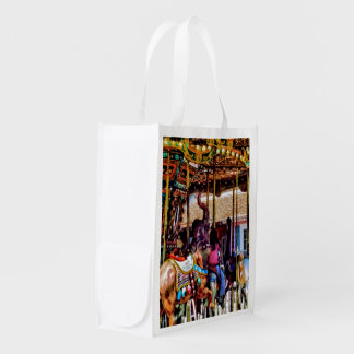 Merry Go Round With Elephants Grocery Bag