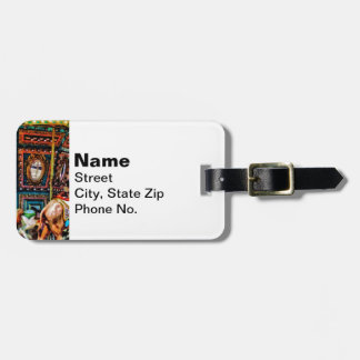 Merry Go Round With Elephants Luggage Tag