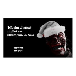 Merry Gory Halloween Zombie Santa Business Card