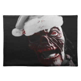 Merry Gory Halloween Zombie Santa Placemat