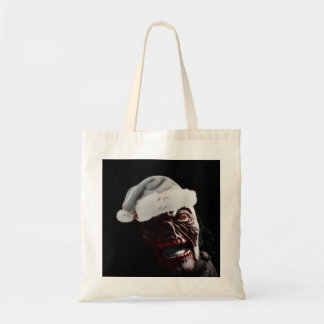 Merry Gory Halloween Zombie Santa Tote Bag