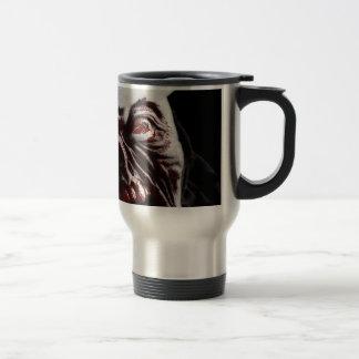 Merry Gory Halloween Zombie Santa Travel Mug