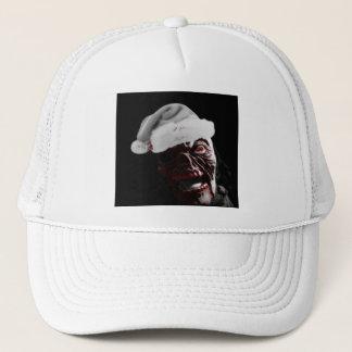 Merry Gory Halloween Zombie Santa Trucker Hat
