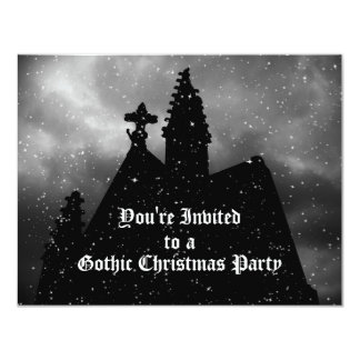 Merry Gothic Christmas party invitations