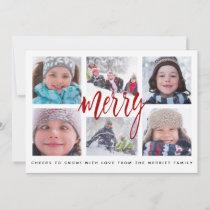 Merry Grid   Christmas Photo Card