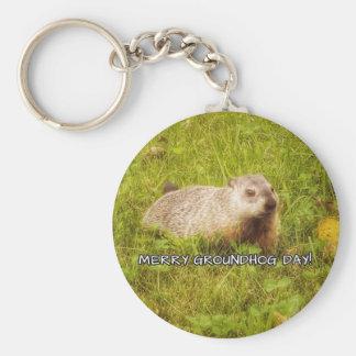 Merry Groundhog Day keychain