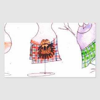 merry haggis rectangular sticker