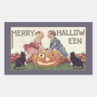 Merry Hallowe'en Rectangular Sticker