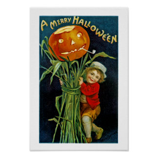 Merry Halloween Jack o' Lantern Poster