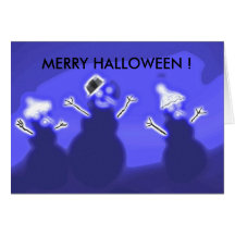 MERRY HALLOWEEN ! Snow Ghosts Card