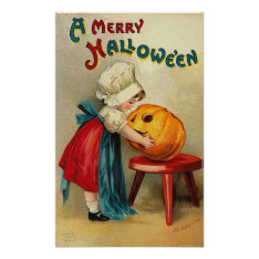 Merry Halloween Wishes Poster at Zazzle