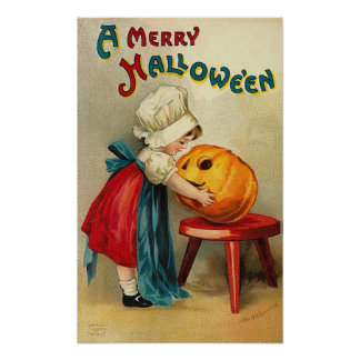 Merry Halloween Wishes Poster