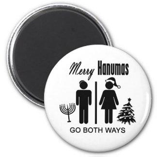 Merry Hanumas Fridge Magnet