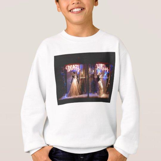 Merry Happy Fashion Gowns Holiday WIndows NYC Sweatshirt