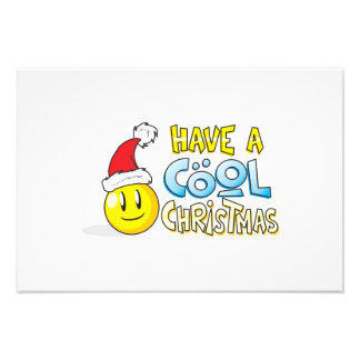 Merry Have a Cool Christmas Card Wrapper Pillows Photo Print