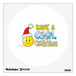 Merry Have a Cool Christmas Card Wrapper Pillows Wall Decal