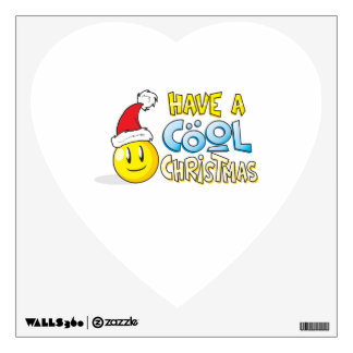 Merry Have a Cool Christmas Card Wrapper Pillows Wall Sticker