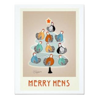 Merry Hens tree invitation