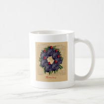 merry hens wreath gifts coffee mug