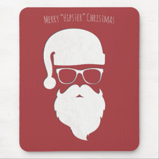 Merry Hipster Christmas Mouse Pad