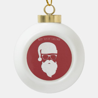 Merry Hipster Christmas Ornaments