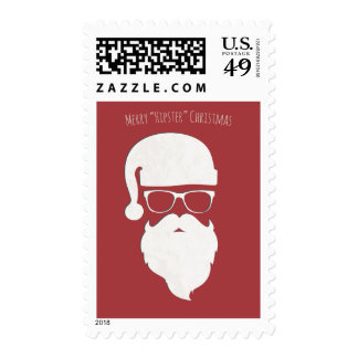 Merry Hipster Christmas Stamp