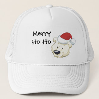 Merry Ho Ho Christmas Bear Hat
