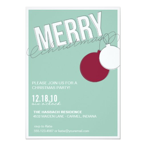 merry holiday party invitation template