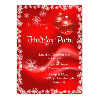 Merry  Holiday Party on Red and Green Card