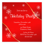 Merry  Holiday Party on Red Personalized Invitations