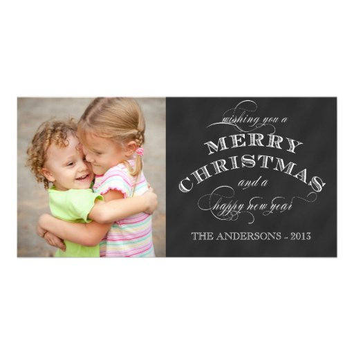 MERRY HOLIDAY PHOTO CARD | CHALKBOARD