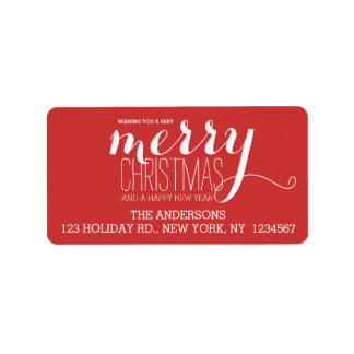 Merry Holiday Wishes | Holiday Address Label