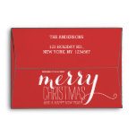 Merry Holiday Wishes | Holiday Envelope