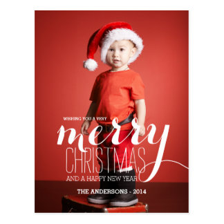 Merry Holiday Wishes | Holiday Photo Postcard