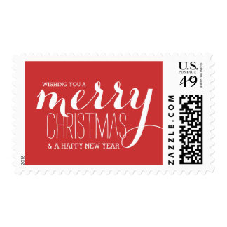 Merry Holiday Wishes   Holiday Postage Stamp
