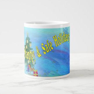 Merry Holiday Wishes Jumbo Mug